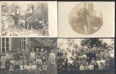 Unknown picture postcards 195x; old and very old picture postcards with soldiers