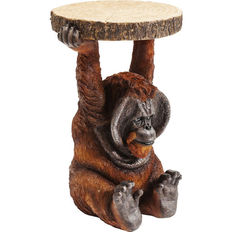 Side table supported by an orangutan - (very good replica) against forgetting an endangered species