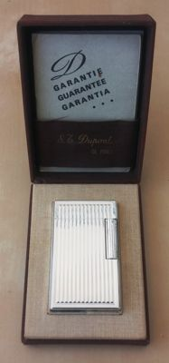 S.T DUPONT LIGHTER SILVER PLATED