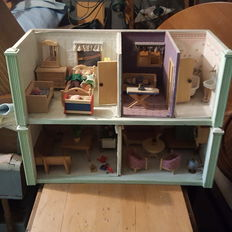 Wooden doll house, 1950/1960