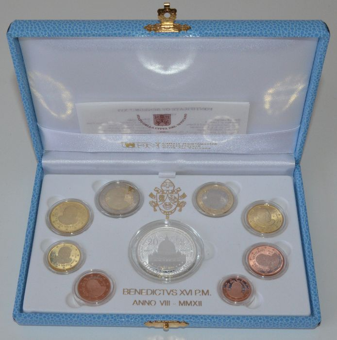 Vatican - Year pack 2012 (Proof) ´Benedict XVI´ including silver 20 Euro