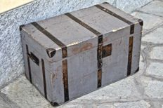 1950s industrial style trunk - wood trunk