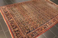 A rare and beautiful old Persian carpet, Veramin Qum, made in Iran around 1950, cork wool, plant colours, 200 x 295 cm, very good