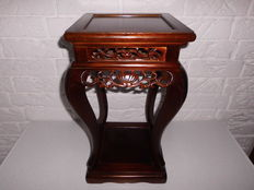 A beautiful, hand-made elegant side / plant table with beautiful wood carving and amazing design.