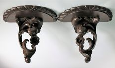 Pair of Corbel´s carved wood - Portugal - Ca. 70´s/80´s