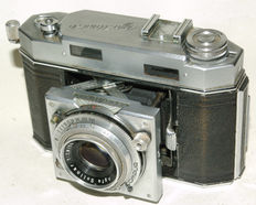 AGFA Karat 36 cameras, 1 x writing letters, 1x block letters