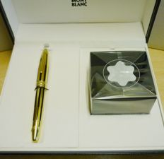 montblanc solitaire black/gold stripes fountain pen