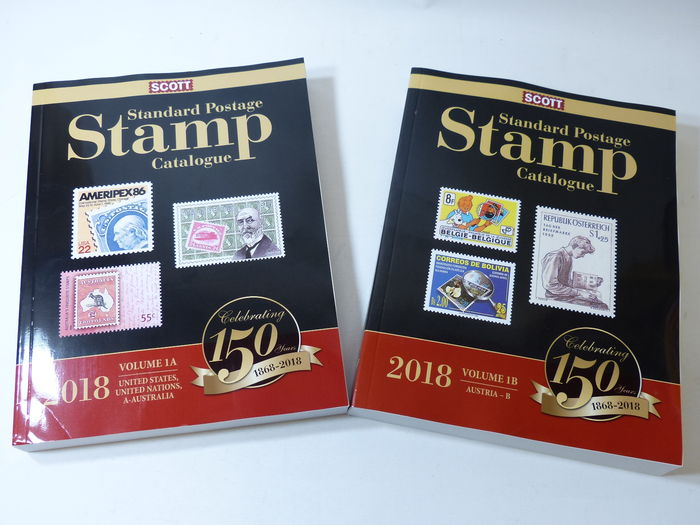 2018 edition of volume 1 Scott World stamp catalogue covering United States UN and countries A-B