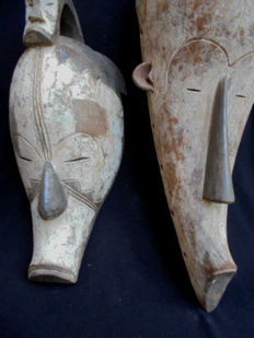 Lot of two FANG GNIL masks, Gabon