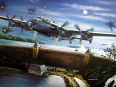 "Fine Art Print - ""Dam Busters Squadron"" Lancasters of the 617 Squadron under command of  Guy Penrose Gibson"