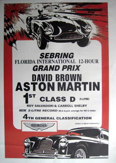 Poster/Print : Aston Martin Grand Prix David Brown Sebring International 12-Hour