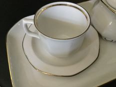 Mitterteich-Two sets for breakfast in Bavarian porcelain