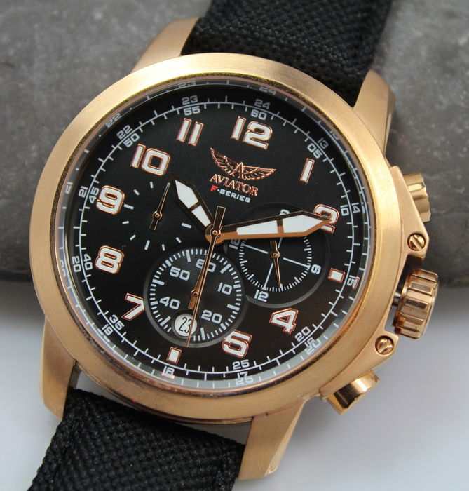 aviator f series men 39 s chronograph pilot watch new. Black Bedroom Furniture Sets. Home Design Ideas