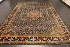 Exclusive, antique, handknotted Persian carpet, collector's carpet, genuine Bidjar with animal pattern, made in Iran circa 1930, plant dyes, 240 x 330 cm