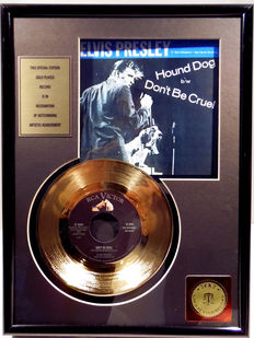 """Elvis Presley - Don't be cruel -  7"""" Single RCA Records golden plated record Special Edition"""