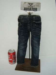 Shop window display, with special miniature PME jeans American classic aviator - 50 cm - 21st century.
