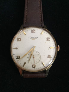 Longines time-only – oversize gold wristwatch for men