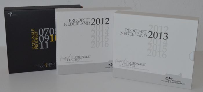 Netherlands - year collections (Proof) 2010, 2012 and 2013 (3 pieces)