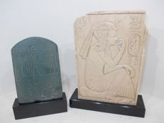 Two very beautiful Egyptian stelae issued by Musée du Louvre