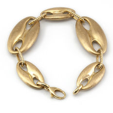 Cable rope motif bracelet in yellow gold – Length: 19.50 cm