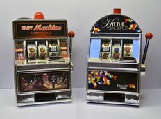 2 Mini slot machine piggy banks.