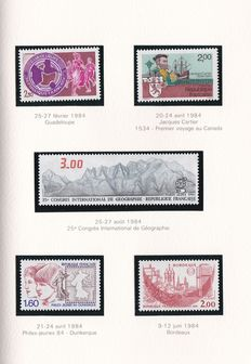 Europe – Composition of year albums and stamps in block of 4
