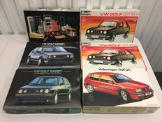 Revell / Fujimi - Scale 1/24 - Lot with 6 models: 5 x VW & 1 x Garage set