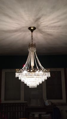 Beautiful antique crystal chandelier