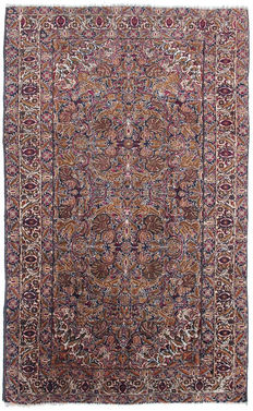 Antique Hand knotted Turkish Rug- Belongs to the First half of 20th century-105 x 170 cm-No Reserve Price