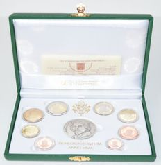 Vatican – Year pack 2010, Benedict XVI, including silver medal