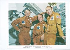 NASA second Skylab crew lithograph with auto pen signature
