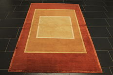 Beautiful handknotted Lori Gabbeh - 140 x 200 cm - nomad's work - circa 1990 - wool with silk