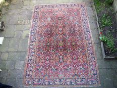 Hand-knotted Persian carpet, Heriz, Iran - 352 x 236 - Around 1920