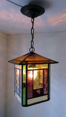 Art Deco-style Lantern - stained glass