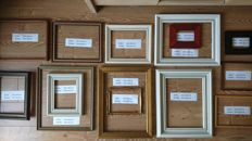 Fourteen brocante (gold-plated) wooden frames