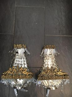 Pair of Bronze Chandeliers from the 20th Century