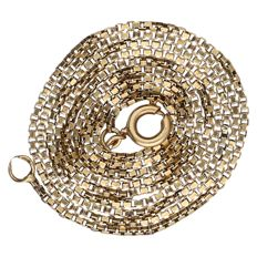 14 kt yellow gold Venetian link necklace – 56 cm