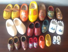 Collection of wooden shoes - crafts