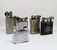 Collection of petrol lighters - 20-30s