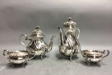 Silver plated tea- and coffee set, Cohr, Denmark, ca 1920