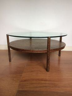 Designer unknown – Vintage wenge wood coffee table.