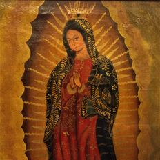 South American school from the early 20th c. - Virgen de Guadalupe