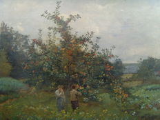 Charles Joseph Beauverie ( 1839 - 1924 ) - Die Apfelkostprobe/ The apple tasting