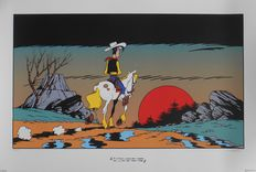 Morris - Zeefdruk Lucky Luke - I'm a poor lonesome cow-boy and a long way frome home -  (1999)