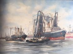 Kelderman Jan, (1914-1990) -  Haven gezicht (Harbour View)