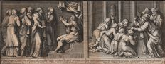 Petrus Sanctus Bartolus (1635-1700) - Two scenes with St Paul- After 'Raphael d'Urbin tapestries for the Sistine Chapel - Ca. 1660