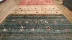 Magnificent Indo Gabbeh Carpet - Handwoven - 261 x 173 cm - Perfect condition - Very interesting reserve price!!!