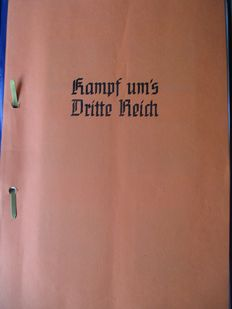 "1 self-created collectors photo album ""KAMPF UMS DRITTE REICH/ Fight for the third Reich"" 1933"