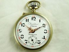 Regulator Syrena Francais, Swiss antique pocket watch, 1900s
