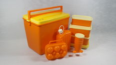 Oranje Curver picnic box, for 4 persons - 34x24x30 cm.